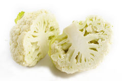 Cut Cauliflower with leaves Royalty Free Stock Photo