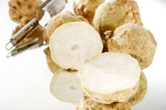 Cut celeriac Royalty Free Stock Photos