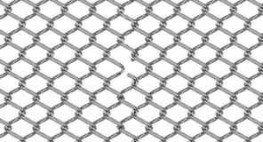 Cut chain link fence Royalty Free Stock Photography