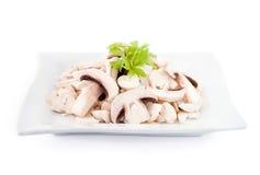 Cut champignons Stock Image