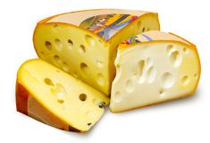 Cut cheese. With clipping path for easy background removing if needed Stock Photo
