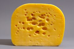Cut of cheese. A close-up shot Stock Photo