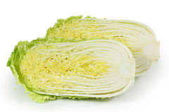 Cut Chinese cabbage Stock Image