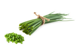 Cut chives Stock Photos