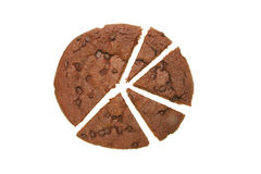 Cut chocolate brownie Stock Images