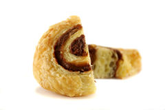 Cut Chocolate Danish Pastry Stock Image