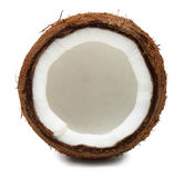 Cut coconut isolated on white Stock Image