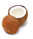 Cut coconut Stock Images