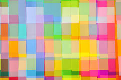 Cut Colored Paper Square Pattern stock photo