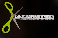 Cut complaints Stock Photography