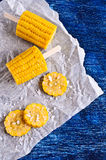 Cut corn on the cob Royalty Free Stock Images