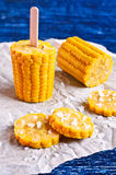 Cut corn on the cob Royalty Free Stock Photos