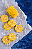 Cut corn on the cob Royalty Free Stock Photo