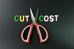 Cut cost Royalty Free Stock Images