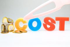 Cut cost Royalty Free Stock Image