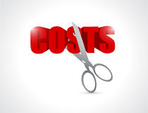 Cut costs concept illustration Stock Photos