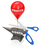 Cut costs Royalty Free Stock Photo