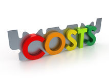 Cut costs down Stock Photography