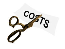 Cut costs Royalty Free Stock Image