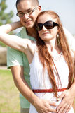 Cut couple hug Royalty Free Stock Photography