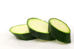 Cut courgette or zucchini Royalty Free Stock Photo