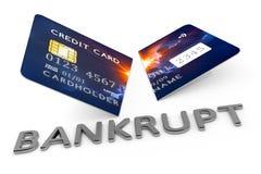 Cut credit card bankrupt Royalty Free Stock Image