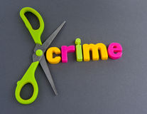 Cut crime Royalty Free Stock Images