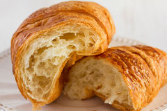 Cut croissant Royalty Free Stock Photos