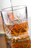 Cut Crystal Glass of Whiskey Royalty Free Stock Photos