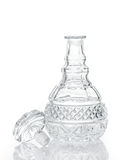 Cut crystal whiskey decanter and stopper   Stock Photography