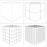 Cut Cube From The Simple To The Complicated Vector Stock Photo