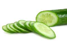 The cut cucumber Royalty Free Stock Images