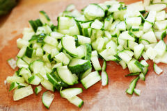 Cut cucumber Royalty Free Stock Image