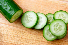 Cut cucumber Stock Photos