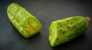 The cut cucumber. Stock Photos