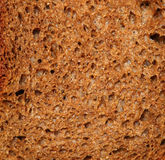 Cut of dark rye bread closeup Royalty Free Stock Image