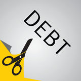 Cut debt Stock Image
