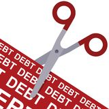 Cut debt concept Royalty Free Stock Photos