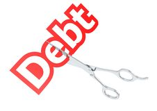 Cut debt Royalty Free Stock Image