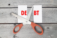Cut debts concept Royalty Free Stock Images