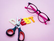 Cut dept concept with text royalty free stock image