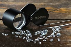 Cut diamonds Stock Photos