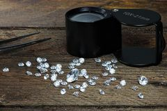 Cut diamonds Stock Images