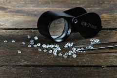Cut diamonds Royalty Free Stock Images