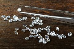 Cut diamonds Stock Photography