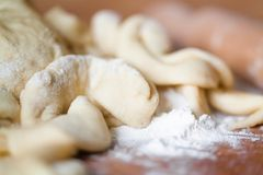 Cut dough Stock Photos