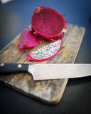Cut dragon fruit 3 Stock Photos