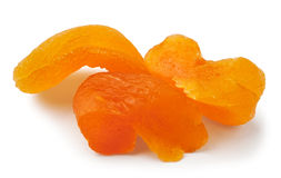 Cut dry apricots Royalty Free Stock Photography