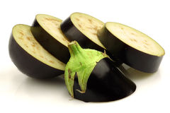 Cut eggplant Stock Photo
