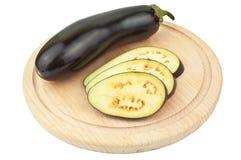 Cut eggplant Stock Photo
